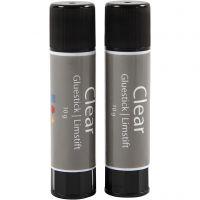 Clear Glue Stick, Round, 2 pc/ 1 pack, 10 g
