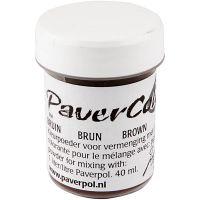 Pavercolor, brown, 40 ml/ 1 bottle