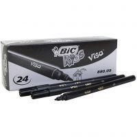 Visa fine marker, line 0,7 mm, black, 24 pc/ 1 pack