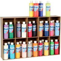 Plus Color Craft Paint, assorted colours, 30x250 ml/ 1 pack
