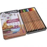 Lyra Rembrandt watercolour pencils, assorted colours, 12 pc/ 1 pack