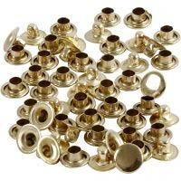 Rivets, D: 7 mm, brass, 50 pc/ 1 pack