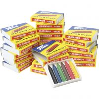 Oil Crayons, assorted colours, 25x6 pc/ 1 pack