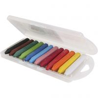 PRIMO wax crayons, assorted colours, 5x12 pc/ 1 pack