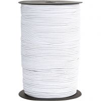 Elastic Beading Cord, thickness 2 mm, white, 250 m/ 1 roll