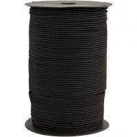 Elastic Beading Cord, thickness 2 mm, black, 250 m/ 1 roll