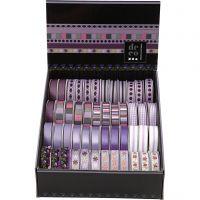 Decorative Ribbon, W: 10 mm, purple, 48x2 m/ 1 pack