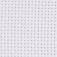 Aida Fabric, size 50x50 cm, 43 squares per 10cm , white, 1 pc