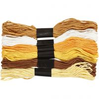 Embroidery Floss, thickness 1 mm, golden, 6 bundle/ 1 pack