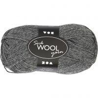Sock Yarn, L: 200 m, dark grey, 50 g/ 1 ball
