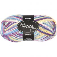 Sock Yarn, L: 200 m, purple/pink harmony, 50 g/ 1 ball
