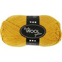 Baby Yarn, L: 172 m, dark yellow, 50 g/ 1 ball