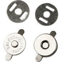 Magnetic Clasp, D: 18 mm, 4 pc/ 1 pack