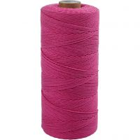 Cotton Twine, L: 315 m, thickness 1 mm, Thin quality 12/12, pink, 220 g/ 1 ball