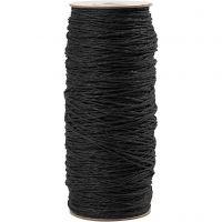 Paper Yarn, thickness 1,8 mm, black, 470 m/ 1 roll, 250 g