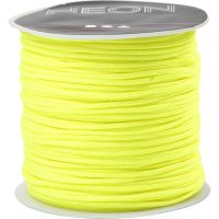Polyester Cord, thickness 1 mm, neon yellow, 28 m/ 1 roll