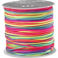 Nylon cord, thickness 1 mm, neon colours, 28 m/ 1 roll