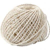 Paper Yarn, thickness 2,5-3 mm, white, 40 m/ 1 ball, 150 g