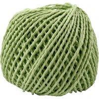 Paper Yarn, thickness 2,5-3 mm, light green, 40 m/ 1 ball, 150 g