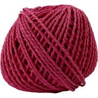 Paper Yarn, thickness 2,5-3 mm, pink, 40 m/ 1 ball, 150 g
