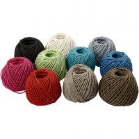 Paper Yarn, thickness 2,5-3 mm, 10x40 m/ 1 pack, 10x150 g