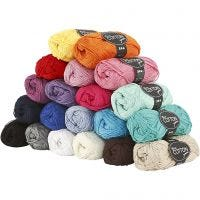 Mercerized Cotton Yarn, no. 6S/4, L: 165 m, 20x50 g/ 1 pack