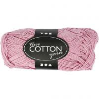 Mercerized Cotton Yarn, no. 6S/4, L: 165 m, antique pink, 50 g/ 1 ball