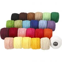 Mercerized Cotton Yarn, assorted colours, 24x20 g/ 1 pack