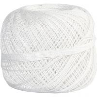 Mercerized Cotton Yarn, white, 20 g/ 1 ball
