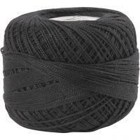 Mercerized Cotton Yarn, black, 20 g/ 1 ball