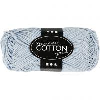 Cotton Yarn, no. 8/8, L: 80-85 m, size maxi , light blue, 50 g/ 1 ball