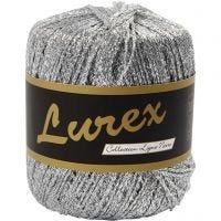 Lurex yarn, L: 160 m, silver, 25 g/ 1 ball