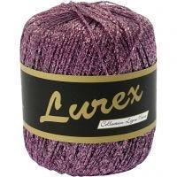 Lurex yarn, L: 160 m, purple, 25 g/ 1 ball