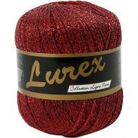Lurex yarn, L: 160 m, red, 25 g/ 1 ball