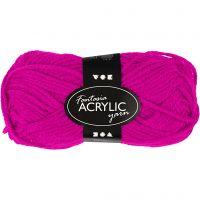 Fantasia Acrylic Yarn, L: 80 m, fuchsia, 50 g/ 1 ball