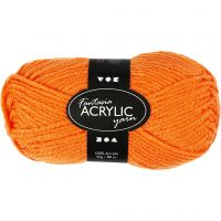 Fantasia Acrylic Yarn, L: 80 m, neon orange, 50 g/ 1 ball