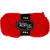 Fantasia Acrylic Yarn, L: 80 m, red, 50 g/ 1 ball