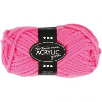 Fantasia Acrylic Yarn, L: 35 m, size maxi , neon pink, 50 g/ 1 ball