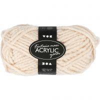 Fantasia Acrylic Yarn, L: 35 m, size maxi , beige, 50 g/ 1 ball