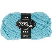 Fantasia Acrylic Yarn, L: 35 m, size maxi , turquoise, 50 g/ 1 ball