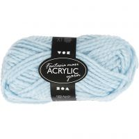 Fantasia Acrylic Yarn, L: 35 m, size maxi , light blue, 50 g/ 1 ball