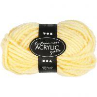 Fantasia Acrylic Yarn, L: 35 m, size maxi , light yellow, 50 g/ 1 ball