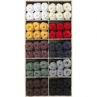 Spaghetti yarn, L: 35 m, assorted colours, 100 ball/ 1 pack
