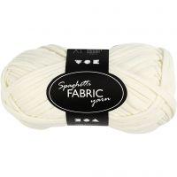 Spaghetti yarn, L: 35 m, off-white, 100 g/ 1 ball