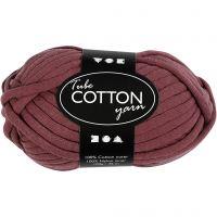 Cotton tube yarn, L: 45 m, purple, 100 g/ 1 ball