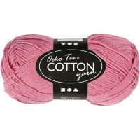 Cotton Yarn, no. 8/4, L: 170 m, dark rose, 50 g/ 1 ball