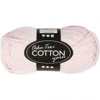 Cotton Yarn, no. 8/4, L: 170 m, dusty rose, 50 g/ 1 ball