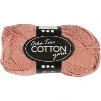 Cotton Yarn, no. 8/4, L: 170 m, antique pink, 50 g/ 1 ball