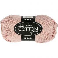 Cotton Yarn, no. 8/4, L: 170 m, beige, 50 g/ 1 ball
