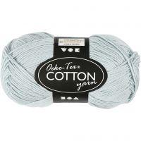 Cotton Yarn, no. 8/4, L: 170 m, dusty blue, 50 g/ 1 ball